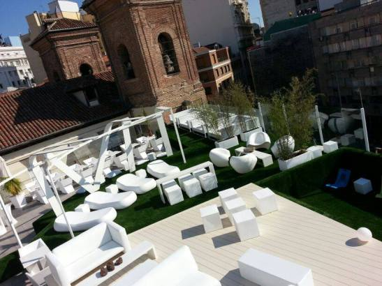Gymage summer rooftop terrace
