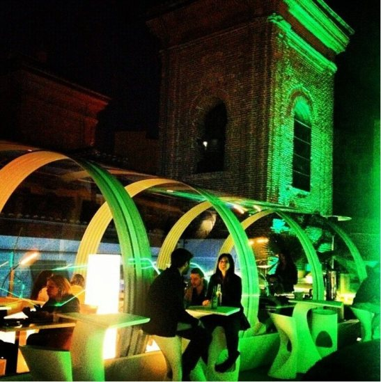 Gymage winter terrace night