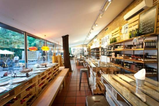 Restaurant and shop inside
