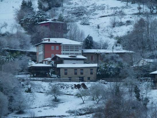 Snow at Palacio de Libardon