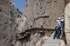 Caminito del rey renovation works