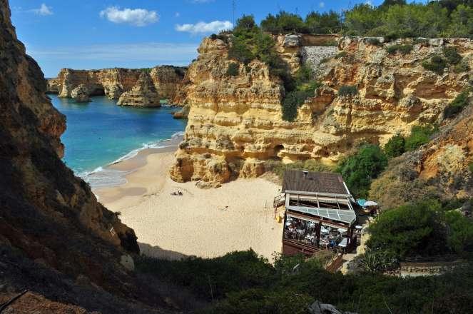 Viaje en coche por el Algarve. Marinha