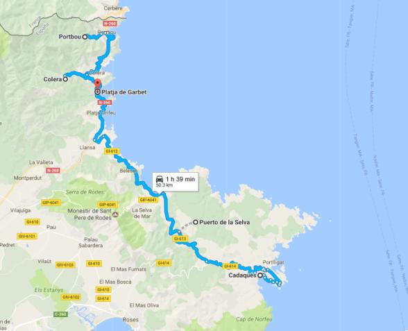 Ruta en coche por la Costa Brava